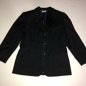 Magil Made In Italy Black Suit 100% Wool Boy's 9